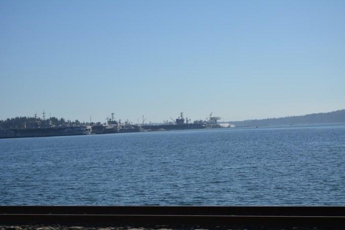 Tiefwasserhafen und Sitz des Flottenoberkommandos der US-Streitkräfte in Bremerton am Puget Sound
