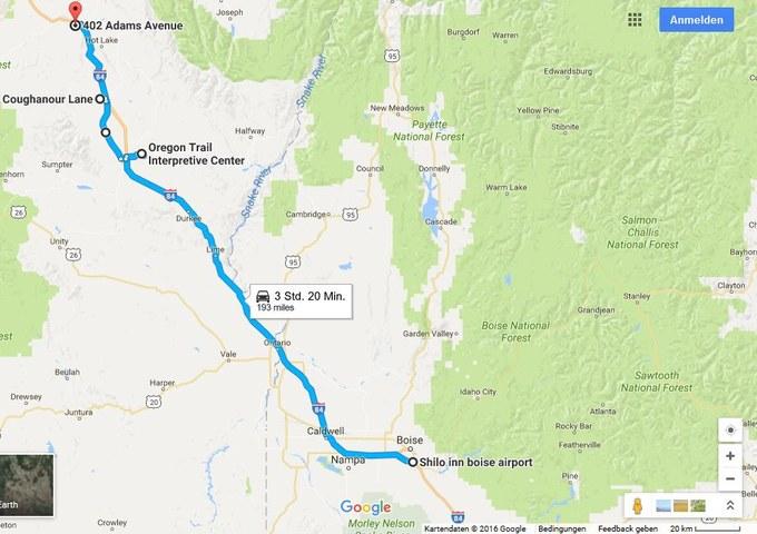 Abbildung 2: Streckenverlauf des 05.09.2016.Quelle: Google Maps 2016