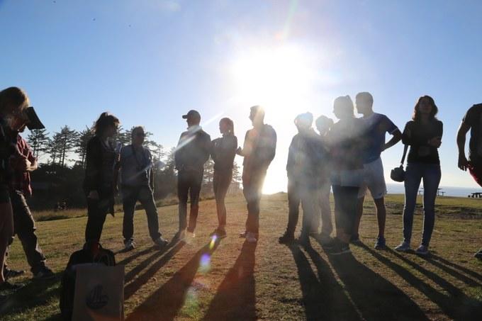 Abbildung 14: Abschlussbesprechung im Ecola State Park.