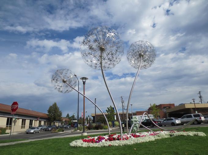 Abbildung3: Gepflegtes Blumenbeet in Coeur d'Alene. Quelle: Wiedmann 2016