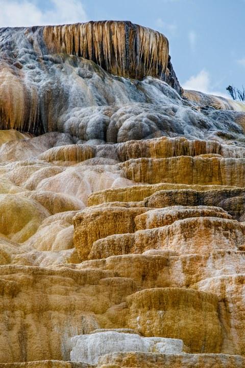 Abbildung 20: Untere Sinterterrassen der Mammoth Hot Springs (1). Quelle: Busche 2016