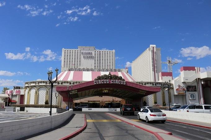 Abbildung 2: Blick auf den Eingangsbereich des Circus Circus Hotel & Resorts. Quelle: Busche 2018.