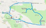 Karte 1 Die Route des Exkursionstages
