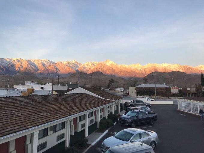 Abbildung 2: Sicht auf die Sierra Nevada (Wolters 2018).