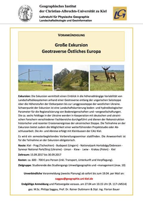 Große Exkursion - Geotraverse Östliches Europa
