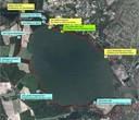 Sehenswerte Orte am Windebyer Noor. Karte: Google Earth, Rainer Duttmann