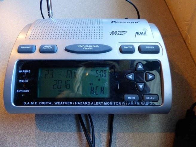 Abbildung 7: Digital weather/hazzard alert monitor radio. Foto: Wiedenhöfer 2016