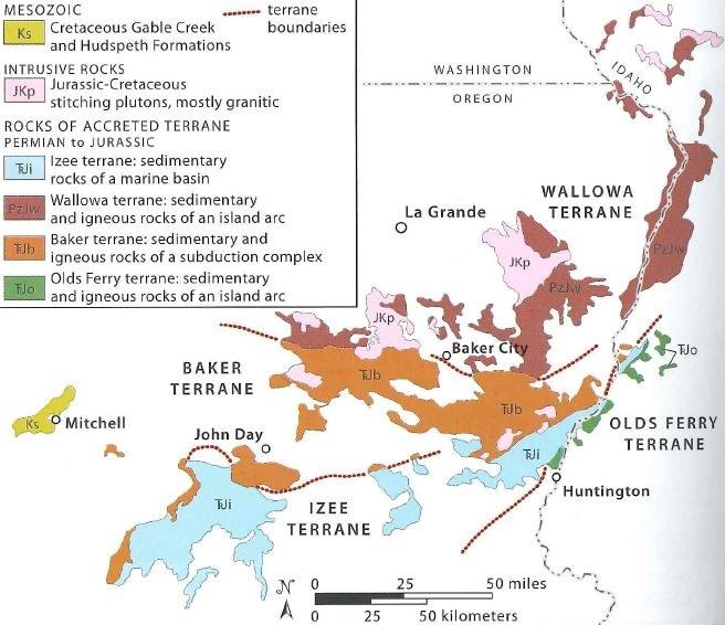Abbildung 4: Karte der vier Krustenblöcke der Blue Mountains.