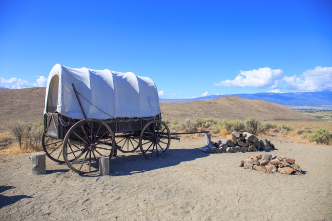 Abbildung. 5: Nachbau eines typischen Planwagens aus dem 19. Jahrhundert.Quelle: Fritjof Busche 2016