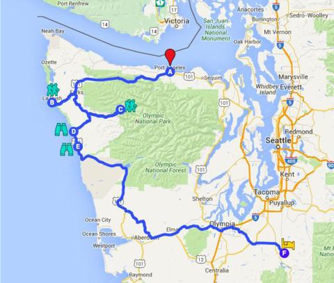 Abbildung 1: Übersichtskarte der Strecke. Quelle: Google Maps 2016