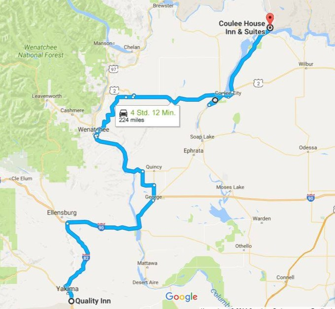 Karte der Tagestour
