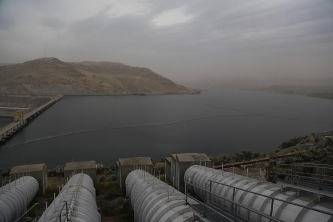 Abbildung 11: Pumpanlage am Lake Roosevelt. Quelle: Hillringhaus 2016