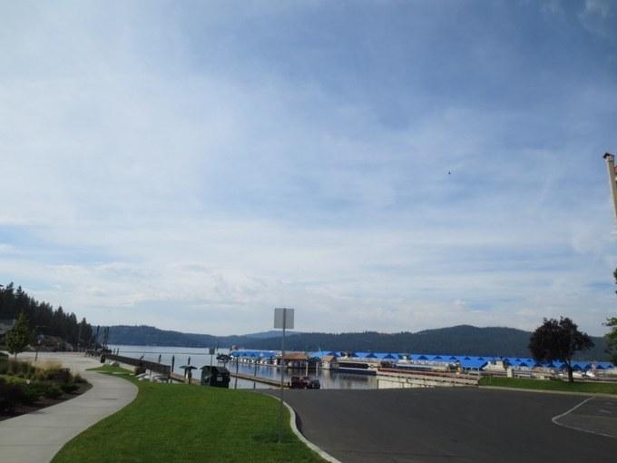 Abbildung5: Blick vom McEuen Park auf den Lake Coeur d'Alene. Quelle: Wiedmann 2016