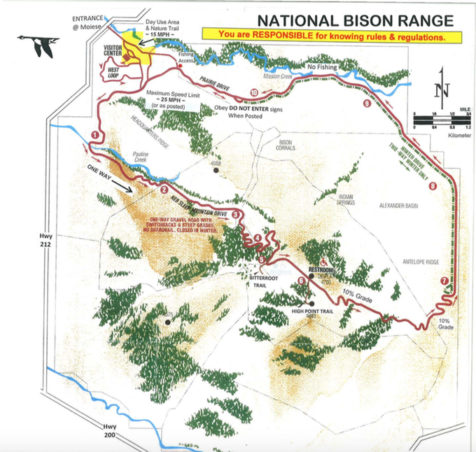 Abbildung 9:Totholzhaufen auf der National Bison Range. Quelle: National Bison Range 2013