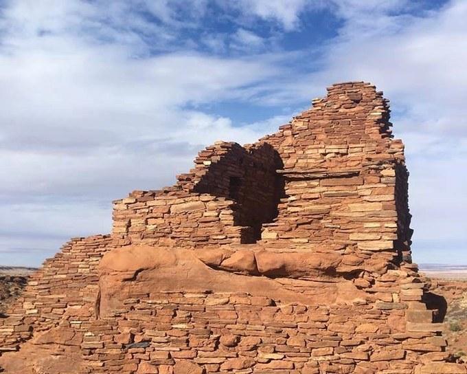 Abbildung 11: Teil des Pueblos erbaut aus Steinen der Moenkopi-Formation (LUT-TERBECK 2018).