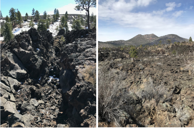 Abbildung 5: A'a-Lavastrom des Sunset Crater (WOLTERS 2018).