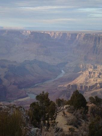 Abbildung 14 (rechts): Blick auf den Colorado River vom Desert View Watchtower.  Quelle: Walther 2018.