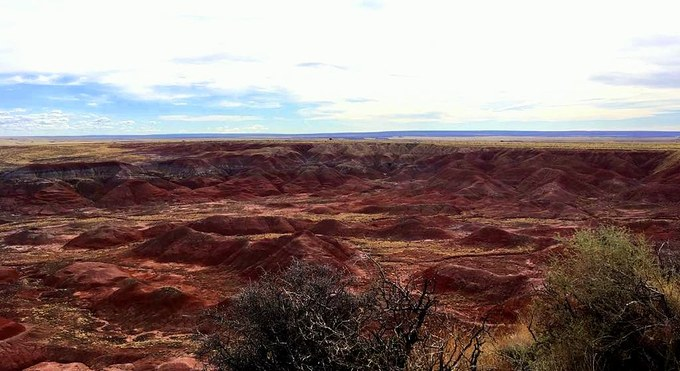 Abbildung 3: Die Painted Desert im Petrified Forest Nationalpark. (Foto: Stjern 2018)