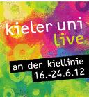 Banner Aktion kieler uni live, CAU Kiel