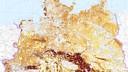 Kartenausschnitt Ertragspotenzial Ackerböden in  Deutschland, BGR